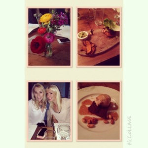 Dinner and beautiful company at the Paradise by Way of Kensal Green for a night of Food, Fitness and Fashion!