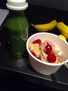 Brunch from Rude Health, Coyo and Press juices