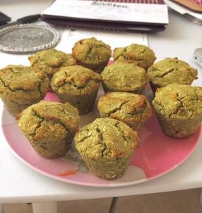 Matcha Coconut muffins with Lovesuperfoodtea matcha