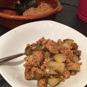 pear crumble recipe